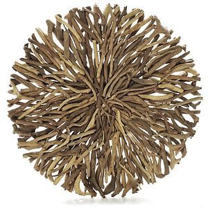 Driftwood Round Wall Hanging ART Indoor Outdoor from Janggalay