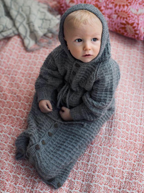 Vauvan unipussi – Katso neuleohje: Kotiliesi.fi Knit sleeping bag
