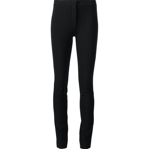 Derek Lam skinny trousers (£495) ❤ liked on Polyvore featuring pants, capris, black, derek lam pants, derek lam, skinny trousers, derek lam trousers and skinny pants