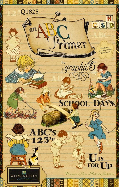 New Graphic 45 An ABC Primer Fabric from Wilmington Prints. #graphic45 #fabric