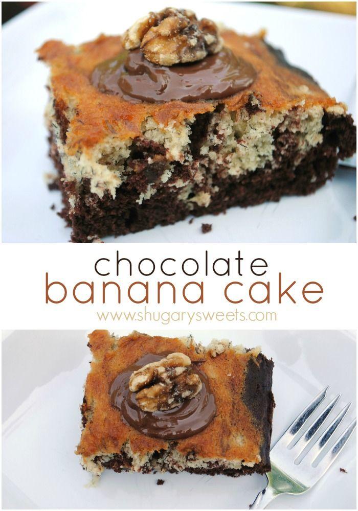 Chocolate Banana Cake - Shugary Sweets