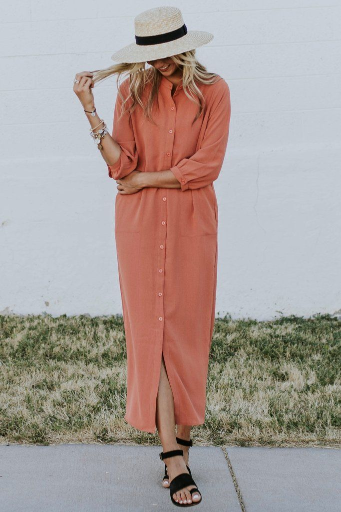 646fa0fe8 Ellarose Button Dress in 2019 | Dress Shop | Dresses. | Modest ...