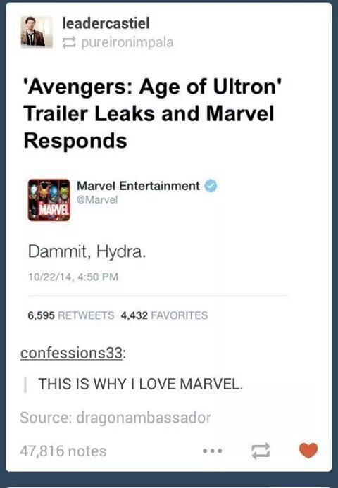And this is why we love Marvel
