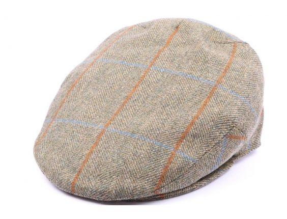 Casquette Plate Kinloch Tweed Vert, Marron Taille 57 #casquettechasse