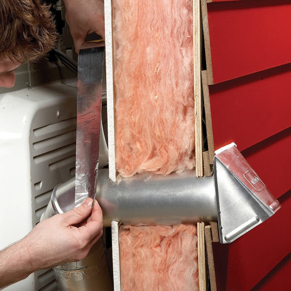 Replace a broken dryer vent cap simply and quickly. Disconnect the through-wall duct and replace the duct and cap together.