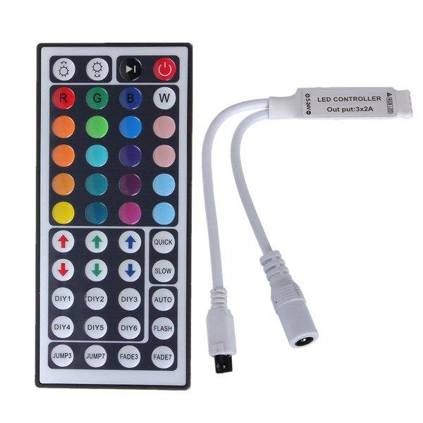 44 Key Mini IR Remote Controller Control For 3528 5050 RGB LED Strip Light
