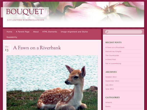Bouquet — Free WordPress Themes
