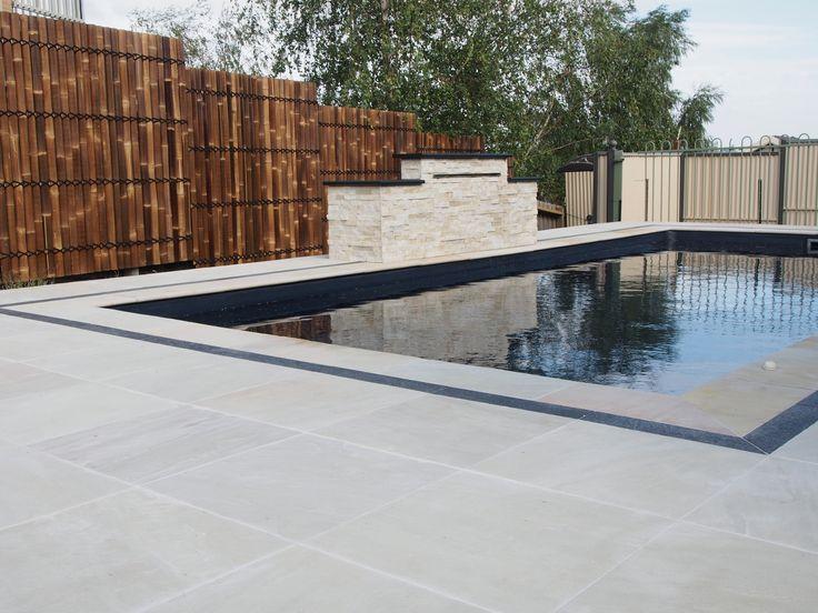 #Sandstone #pavers Oasis around the pool.