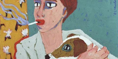 Charlotte Mutsaers zelfportret met hond natuurlijk!