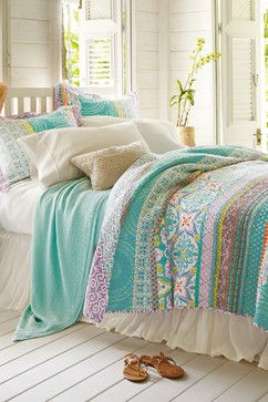 Positano Quilt beach-style-quilts-and-quilt-sets
