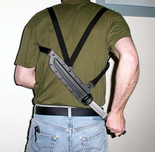knife shoulder holster - Google Search