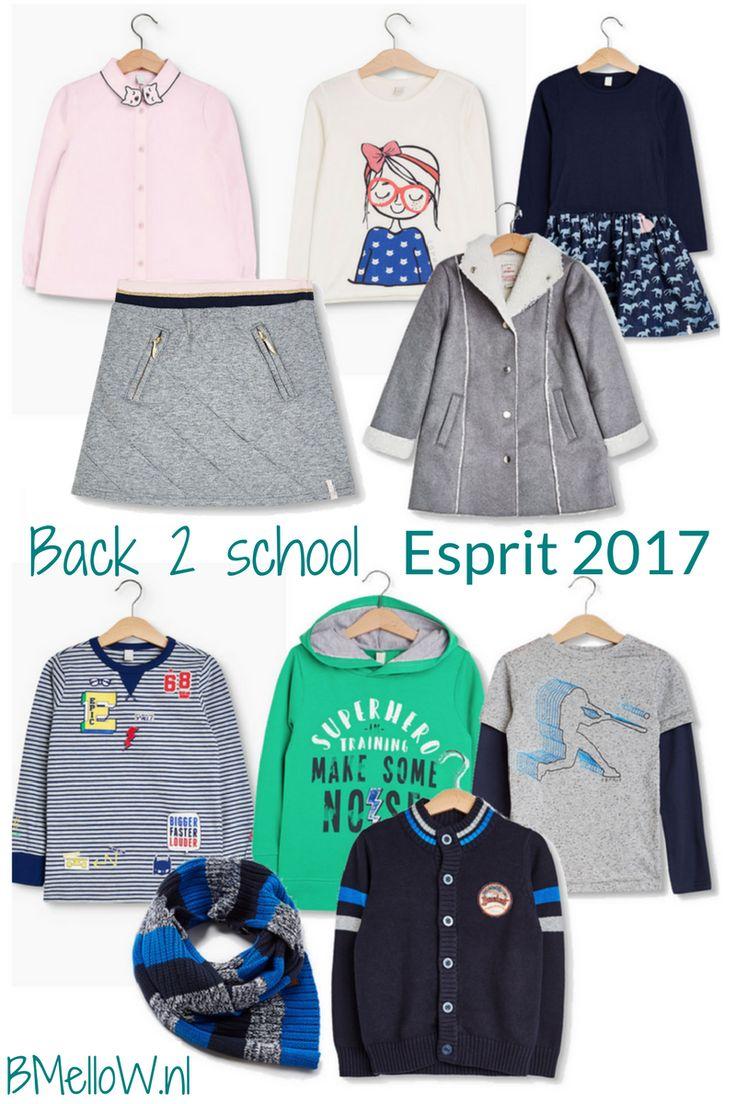 Back to school met de kindermode van Esprit 2017. mini meisjes en jongens BMelloW.nl