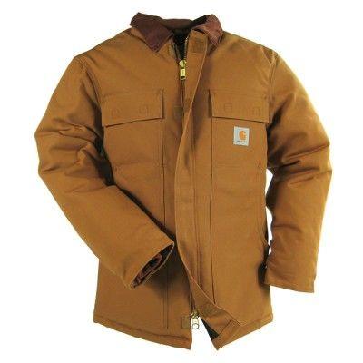 Carhartt Clothing Men's C003 BRN Brown Traditional Arctic Duck Coat