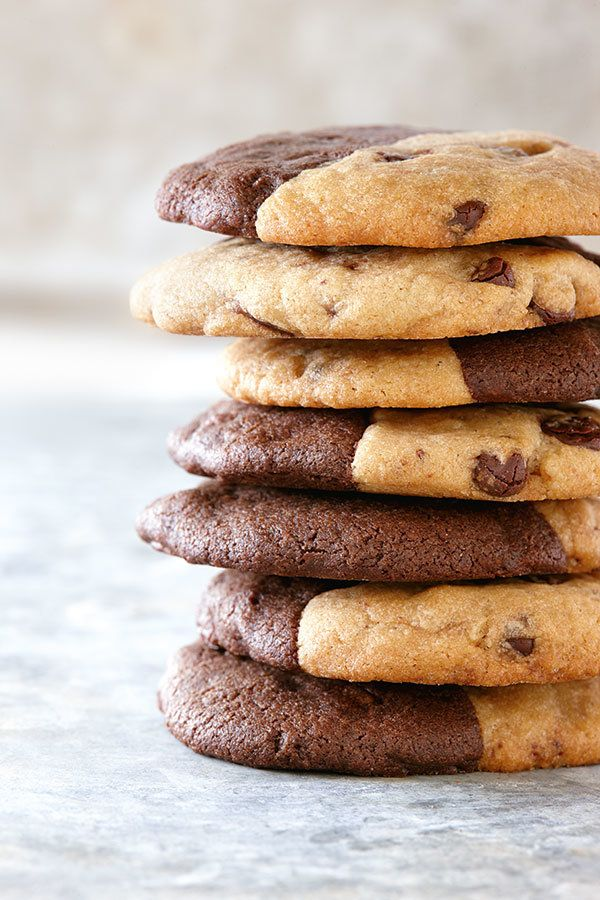 Two-Tone Chocolate Chip Cookies | Canadian Living