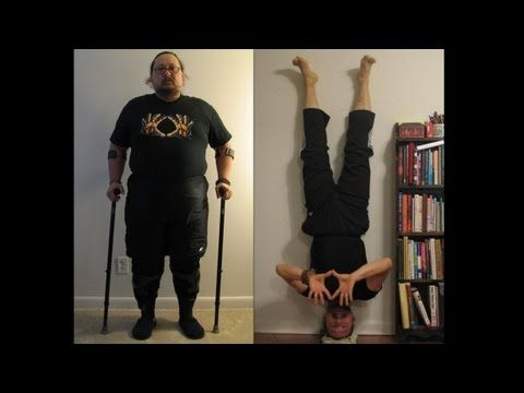 Never, Ever Give Up. Arthur's Inspirational Yoga Transformation! Repin to show Arthur some love :)