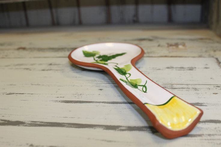 Vineyard Ceramic Spoon Rest. The perfect accesory and companion for your kitchen and cooking needs. The mediterranean feel of these classics will surely have you feeling light and serene. This clay from the Lisbon area in Portugal is very durable. Some pieces are oven safe. All are microwave and dishwasher safe.