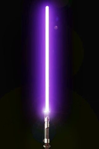 Daphne's lightsaber.  When Daphne rescues Jane Pink from Darth Vader,  Yoda presents Daphne with Mace Windu's lightsaber.