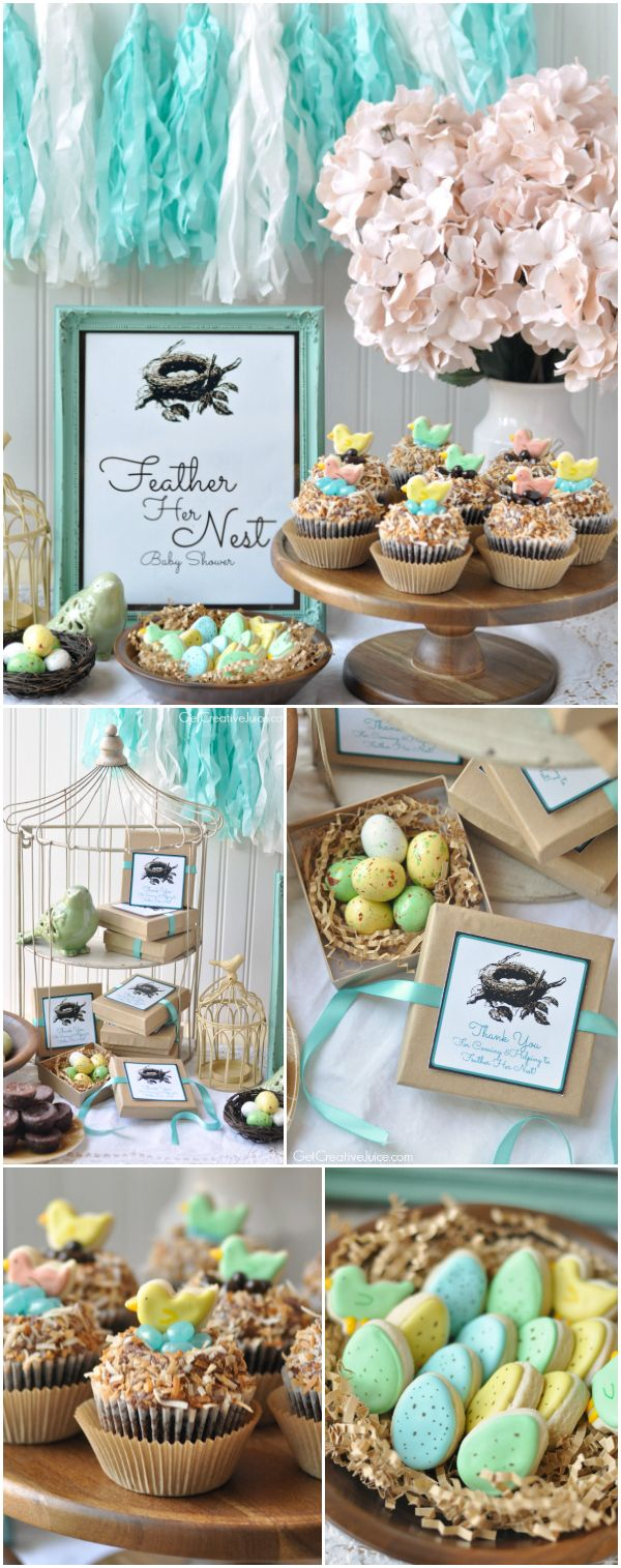 'Feather Her Nest' Bird Baby Shower - Creative Juice