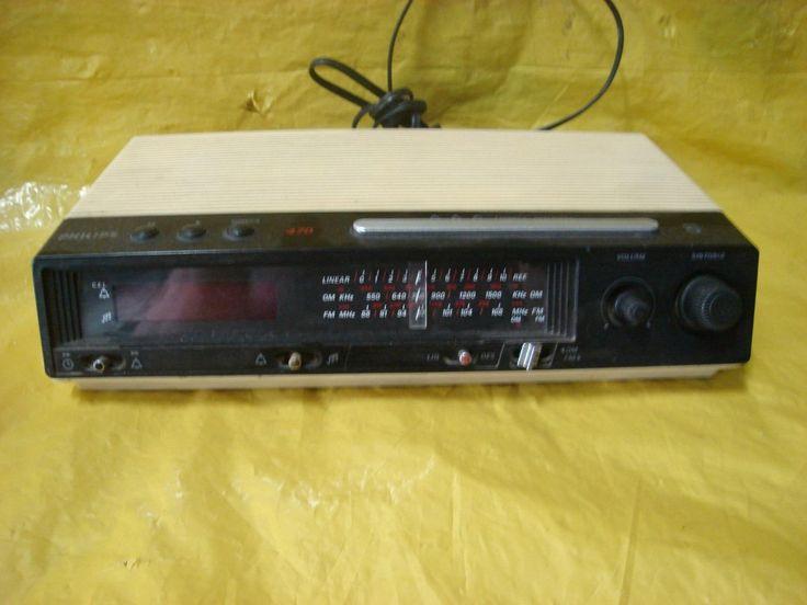 radio relógio philips 470 - tudo perfeito - mineirinho - cps