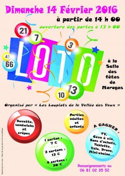 affiche Loto des écoles Les Loupiots de la Vallée des Vaux