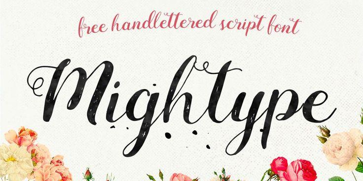 Mightype Handlettered Brush Font