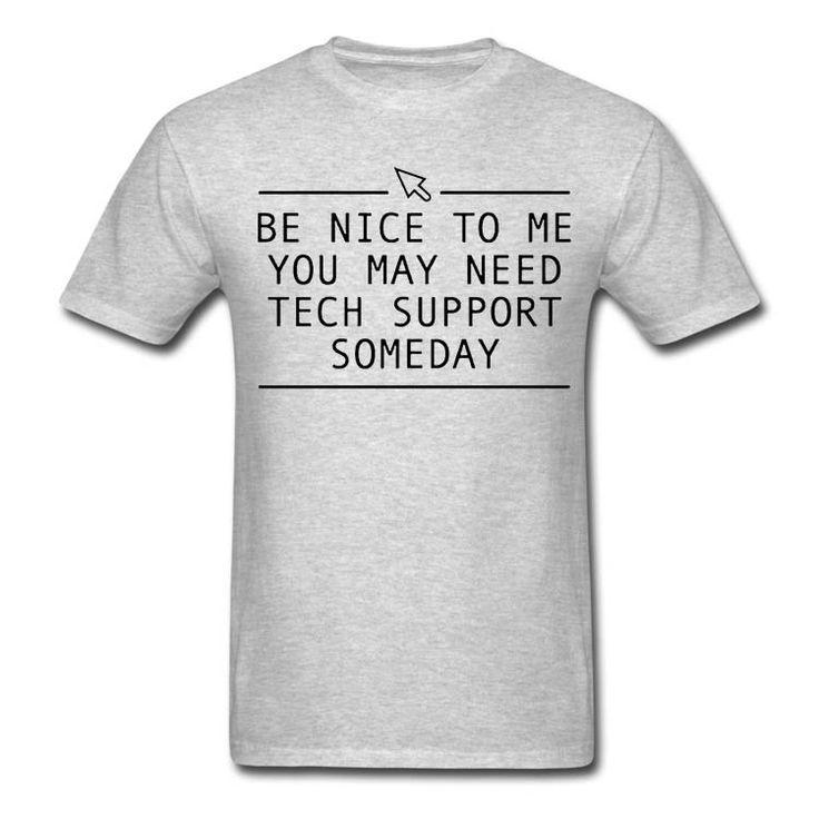 Grappige Tech Ondersteuning Gedrukt Mens T-shirt Nieuwigheid Gift Tee Computer Geek Smart Harajuku T-shirt Zomer Stijl S-XXXL