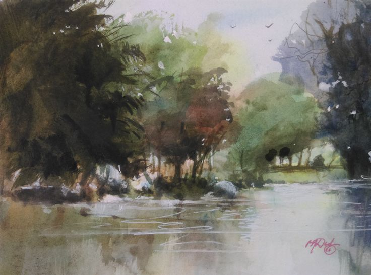 """""""Backwater"""" by Brian Dickinson. Paintings for Sale. Bluethumb - Online Art Gallery"""