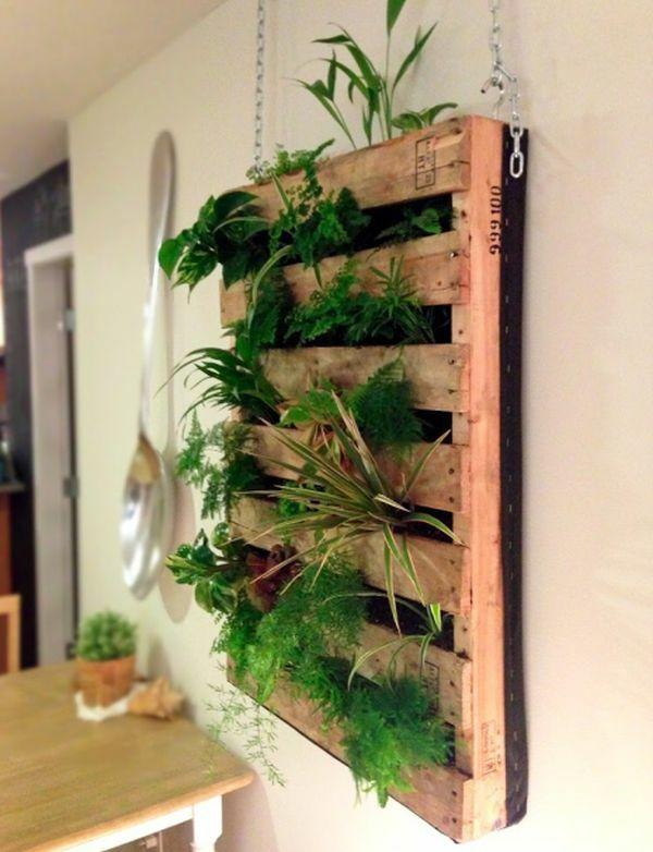 60 DIY Möbel aus Europaletten – erstaunliche Bastelideen für Sie - DIY Möbel Europaletten hängedeko