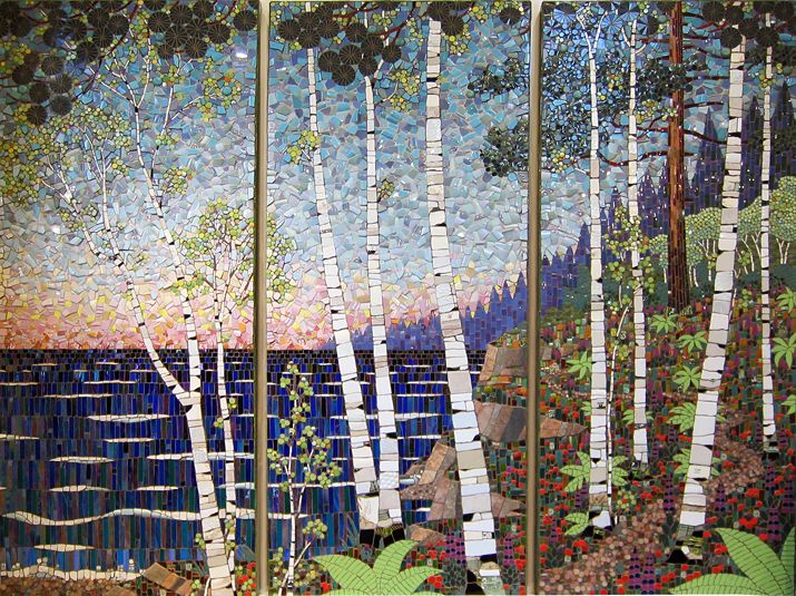 Modern fine art from reclaimed materials. He makes amazing mosaics from nontraditional material!