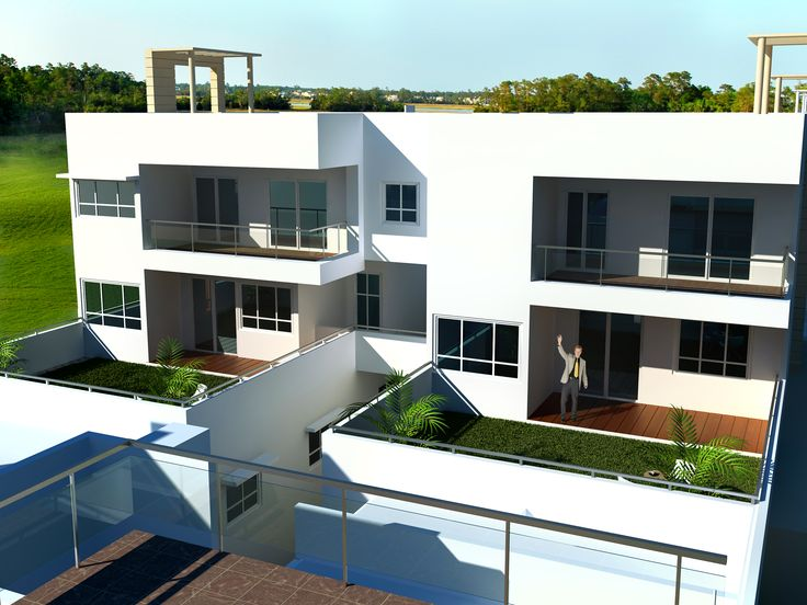 Exterior View of 2nd floor of the EarthVillament Project.