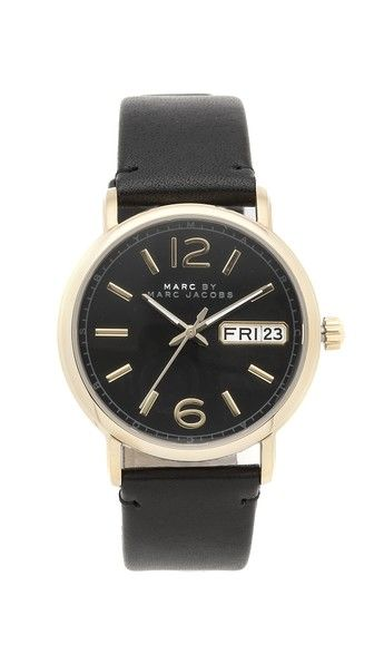 Marc By Marc Jacobs Fergus Watch - Gold/Black