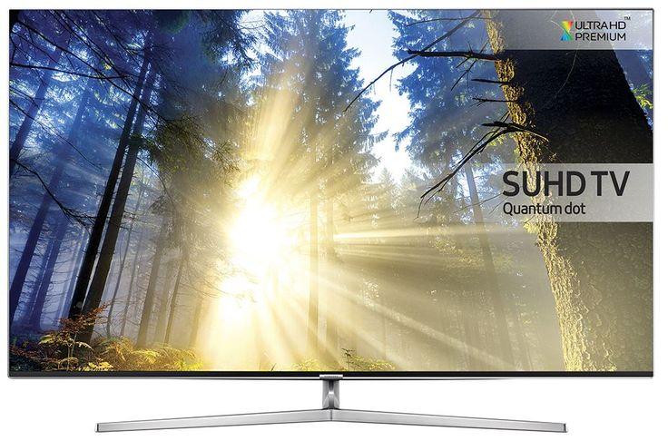 """Samsung UE65KS8000  Description: Samsung UE65KS8000: 65"""" Samsung Smart TV met SUHD scherm Geniet van adembenemende beeldkwaliteit op het 65"""" SUHD LED scherm van de Samsung UE65KS8000. Quantum Dots voorzien het scherm van levensechte kleuren en een vergroot kleurenspectrum. De Precision Black Pro en Peak Illuminator Pro zorgen voor diepzwart en helder wit om zo het contrast zo echt mogelijk weer te geven. Aan de UE65KS8000 kan je heel eenvoudig al jouw randapparatuur koppelen dankzij de One…"""