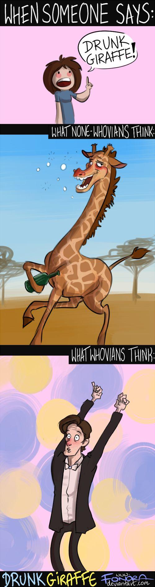 Drunk Giraffe by Fonora.deviantart.com on @DeviantArt