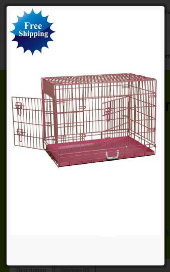 36″ #Pink #Folding #Wire #Cage http://house4pets.com/product/36-pink-folding-wire-cage/  #USA #Oregon #WestLinn
