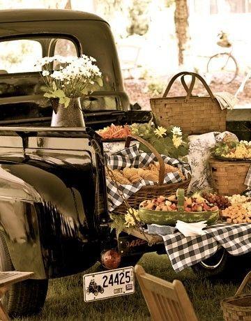 Country Living ~ pick-ups and picnics