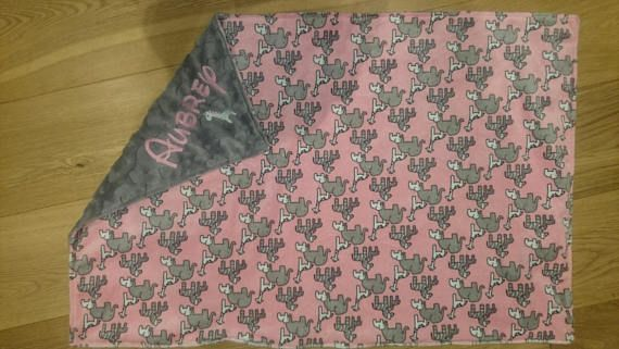 Personalised Baby Plush Comforter blanket 60 x 90 cm