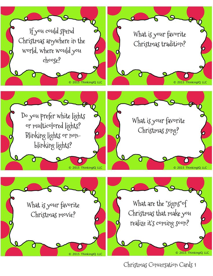 Christmas Conversation Starters And Writing Prompts -9248