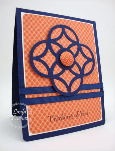 Great way to use the lattice die! By Linda AarhusBackgrounds Paper, Die Cut, Beautiful Cards, Lattice Diecut, Cards Lattice, Handmade Cards, New Stampin Up! Cards To Make, Cut Out, Stampin Up Lattice Cards