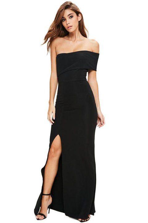 0023d3baed Vestido Feminino Longo Ombro a Ombro Fenda Social Festa REF  VRP16 -  comprar online