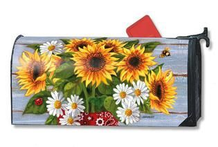 Mailbox Cover Bandana Sunflowers Mailwrap. Shop the entire collection of spring summer decorative magnetic mailbox covers. Free shipping on $49 orders