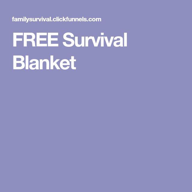 FREE Survival Blanket