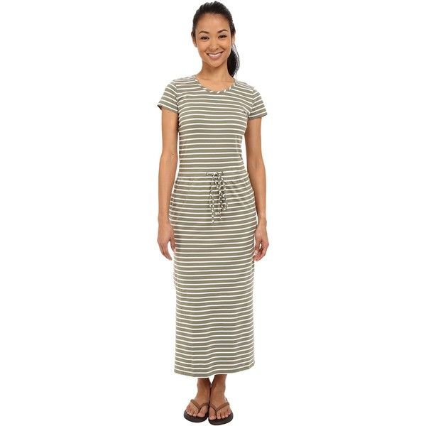 United By Blue Ryde Maxi Dress (Green/White) Women's Dress ($50) ❤ liked on Polyvore featuring dresses, green, white tee shirt dress, white slip dress, white slip, maxi dresses and white t shirt dress