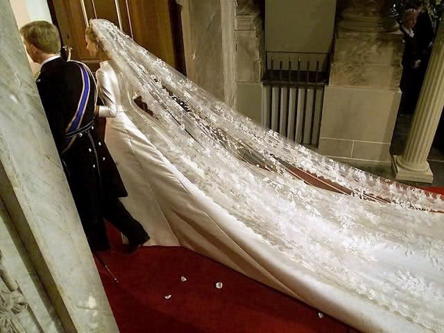Crown Princess Maxima royal wedding...dress by Valentino