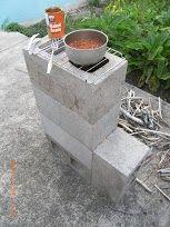 5 cinder block rocket stove!!(Kali)