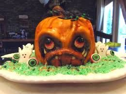 Image result for scary pumpkin face