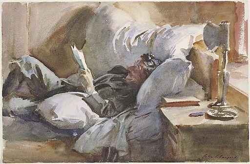John Singer Sargent. Man Reading,