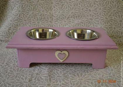 Мебель ручной работы. Ярмарка Мастеров - ручная работа. Купить Акция! Подставка под миски для собак или кошек. Handmade.