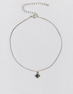 ASOS – Kurze Festival-Halskette mit Steindesign