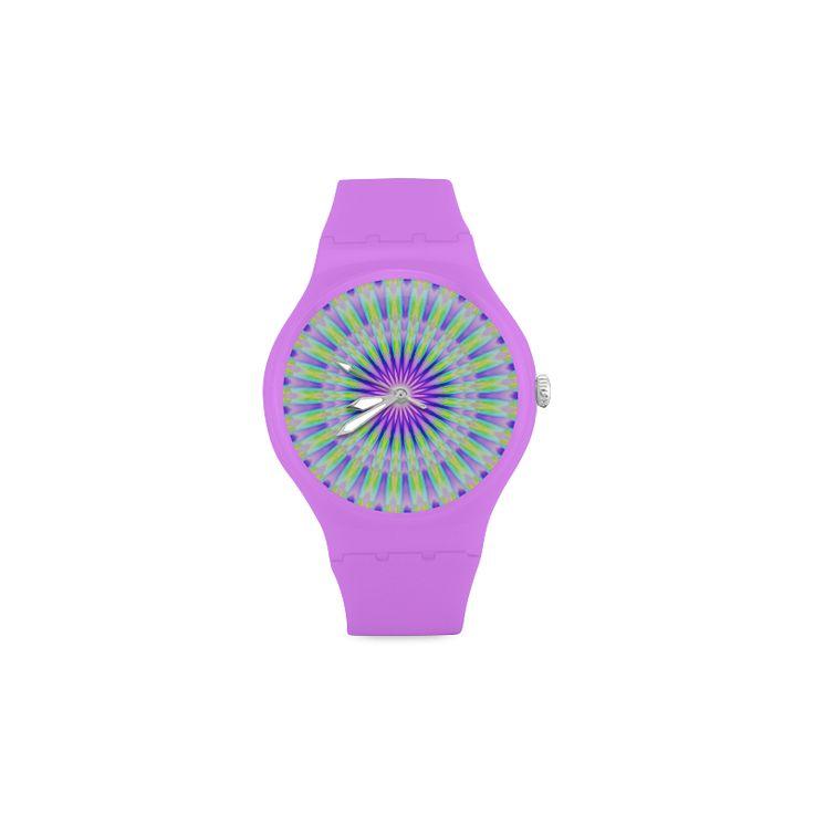 Colour Explosion Unisex Round Rubber Sport Watch