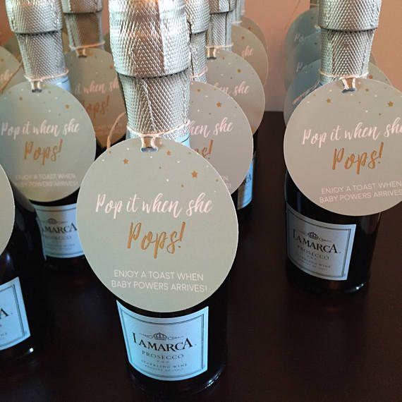 Champagner-Baby-Dusche-Tag, Pop es, wenn sie POPS, geschlechtsneutrale Baby-Dusche-Ideen, personalisierte Geschenkanhänger, Baby Shower Favors, Gender Reveal   – Champagne pop